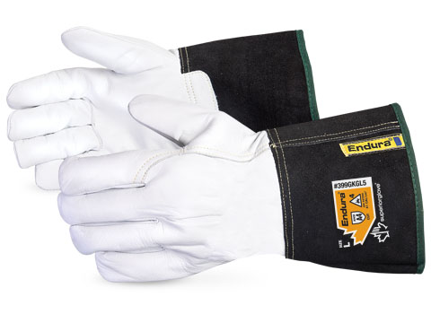 399GKGL5 Superior Glove® Endura® Goat Grain Cut Resistant Driver Gloves w/ Kevlar®/Composite Filament Fiber Lining and Gauntlet Cuff