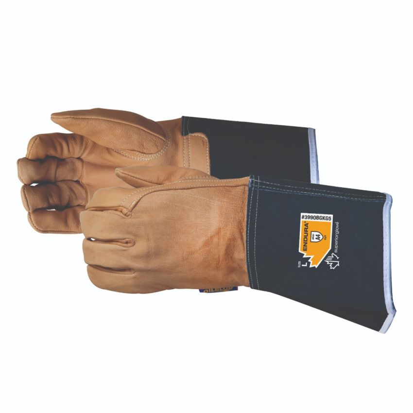 399OBGKG5 Superior Glove® Endura® Goat Grain Cut Level A4 Driver Gloves w/ Kevlar®/Composite Filament Fiber Lining and Gauntlet Cuff