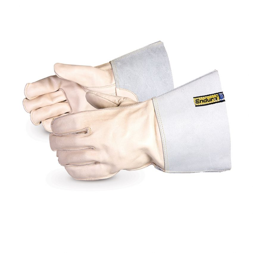 399OSSC4 Superior Glove® Endura® Cowgrain Split-Leather Gloves