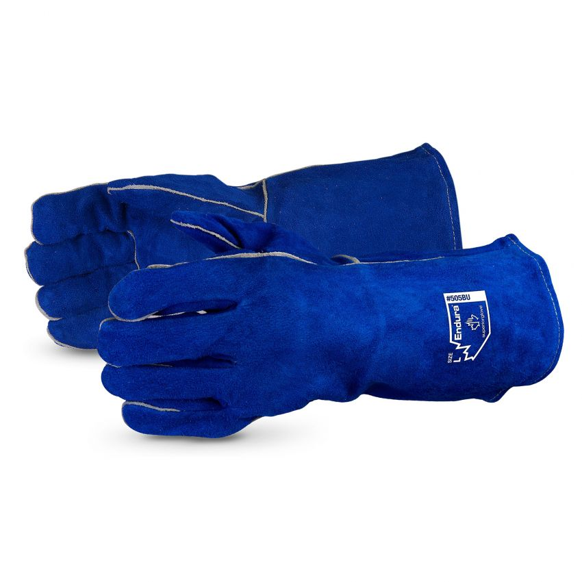 Superior Glove® Endura® Deluxe Split-Cowhide Welding Glove #505BU