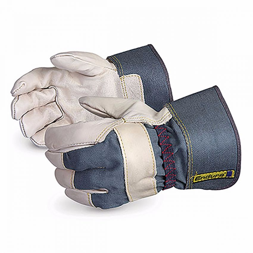 76BOE - Superior Glove® Endura® Grain Fitters Gloves with Elastic Backs