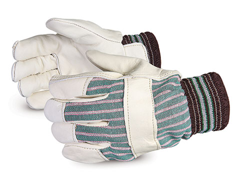 76EFL - Superior Glove® Endura® Grain Fitter Gloves w/ Elasticized Cuffs