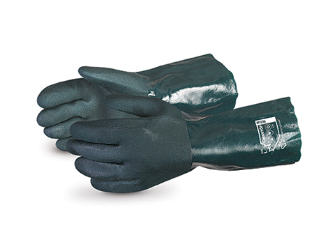 #F236 Superior Glove® Chemstop™ Premium 14` Green Double Dipped PVC Glove
