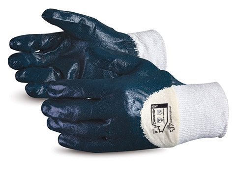GNT Superior Glove® Chemstop™ Puncture Resistant Waterproof Cotton Work Glove w/ 3/4 Nitrile Palm Coat
