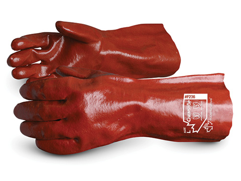 #J236 Superior Glove® Chemstop™ Supported 14` PVC Gauntlet