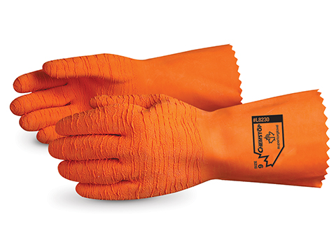 #L8230 Superior Glove® Chemstop™ Supported Latex Chemical-Resistant Glove