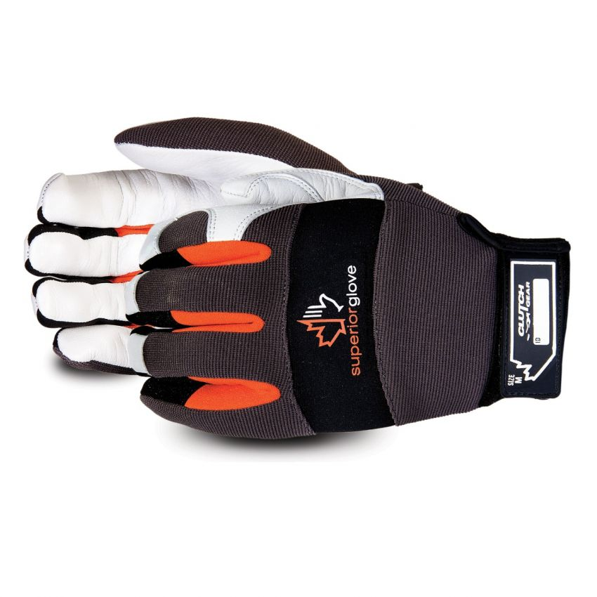 MXGKG - Superior Glove® Clutch Gear® Cut-Resistant Goat-Grain Palm Mechanics Gloves