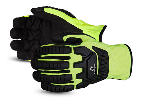 Superior Glove® Clutch Gear® Hi-Viz Impact Protection Mechanics Gloves