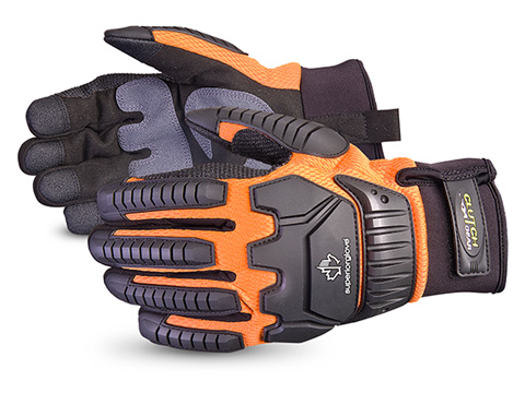 Superior Glove®  Clutch Gear® Anti-Impact Summer Waterproof Mechanics Glove #MXVSBOWT