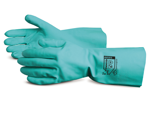 #NIF3018 Superior Glove® Chemstop™ Flock-Lined Nitrile Gloves