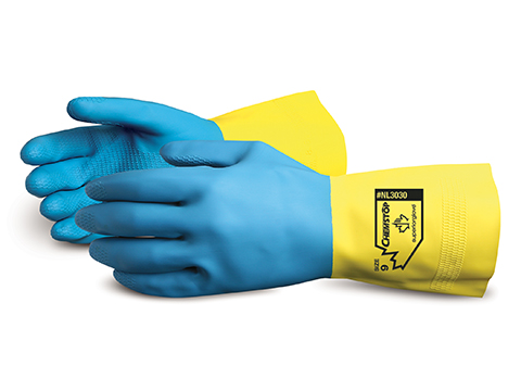 #NL3030 Superior Glove® Chemstop™ Unsupported Neoprene Over Latex Chemical Resistant Gloves