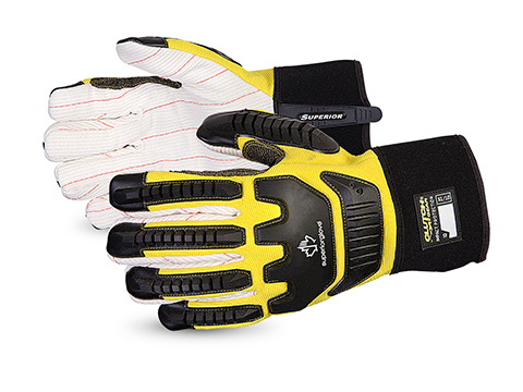 Superior Glove®  Clutch Gear® Anti-Impact Oilfield Glove w/ Kevlar® Reinforced  Thumb #Q18VSB