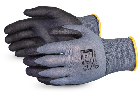 #S13BPVC Superior Glove® Dexterity® 13-gauge Nylon w/ Foamed PVC Palms