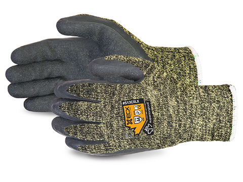 #S13CXLX Superior Glove® Emerald CX™ Kevlar® Wire Core Cut Resistant Work Gloves with Latex Palms