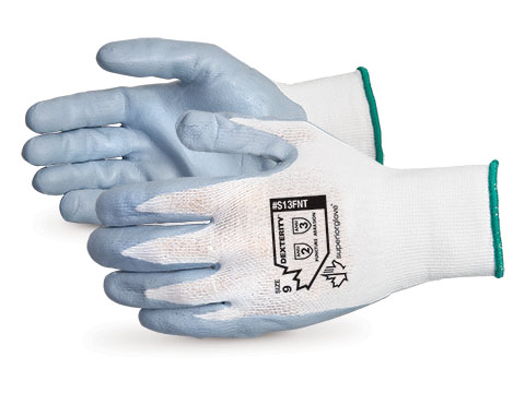 #S13FNT Superior Glove® Dexterity® NT Foam-Nitrile-Dipped Work Gloves