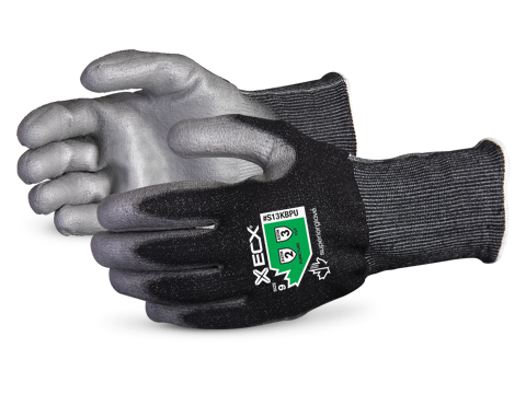 #S13KBPU Superior Glove® Emerald CX Lite™ 13-gauge Nylon Stainless-Steel Knit Cut Protection Work Glove with PU Palms