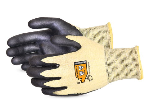 #S13KFGFNT Superior Glove® Dexterity® Nitrile Palm Coated Cut Resistant String Knit Work Gloves
