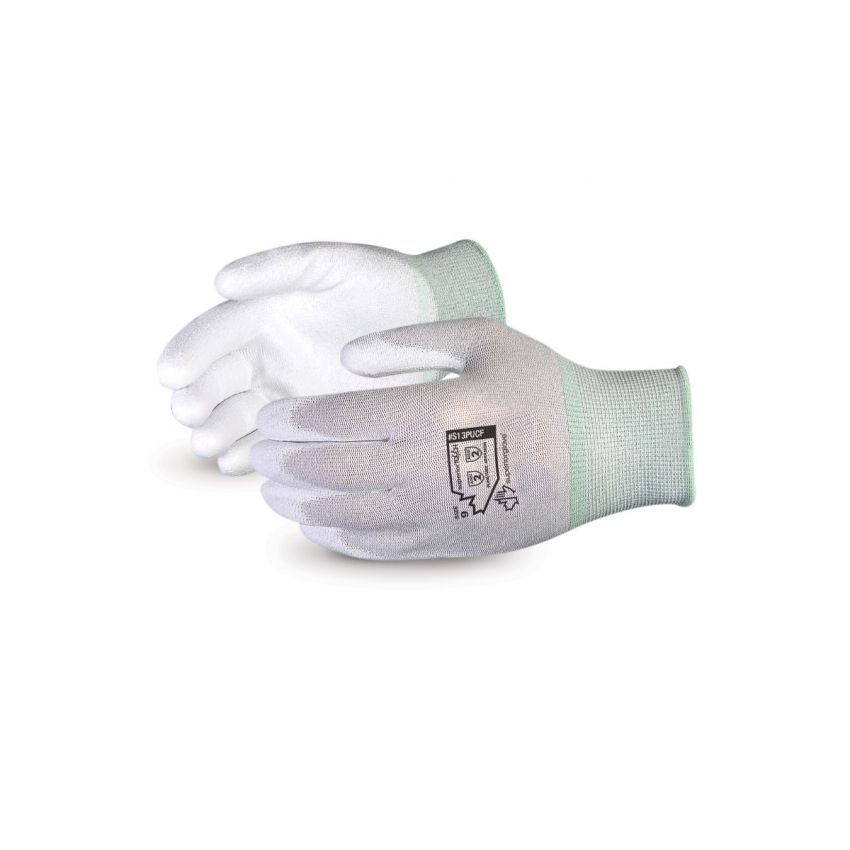 S13PUCF Superior Glove® Superior Touch® Static Dissipative Polyurethane Palm Coated Nylon Gloves