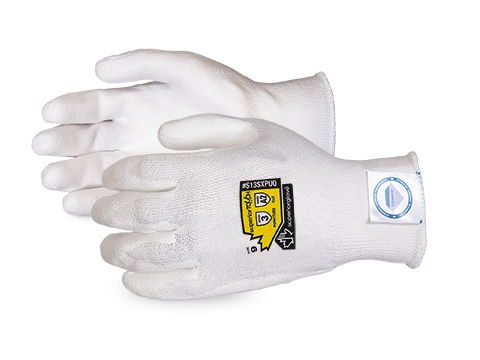 #S13SXPUQ Superior Touch® Economy 13-gauge Cleanroom Knit w/ Dyneema and Polyurethane Palms