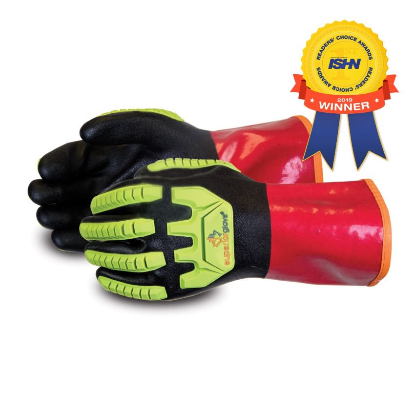 #S15KGVNVB Superior Glove® Chemstop™ Anti-Impact Nitrile Coated PVC Gloves w/ Kevlar® Liner