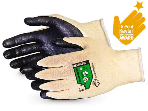 #S18KGFN AWARD WINNER. Superior Glove® Dexterity® Ultrafine 18-Gauge Cut Resistant Work Glove with Foam Nitrile Palm