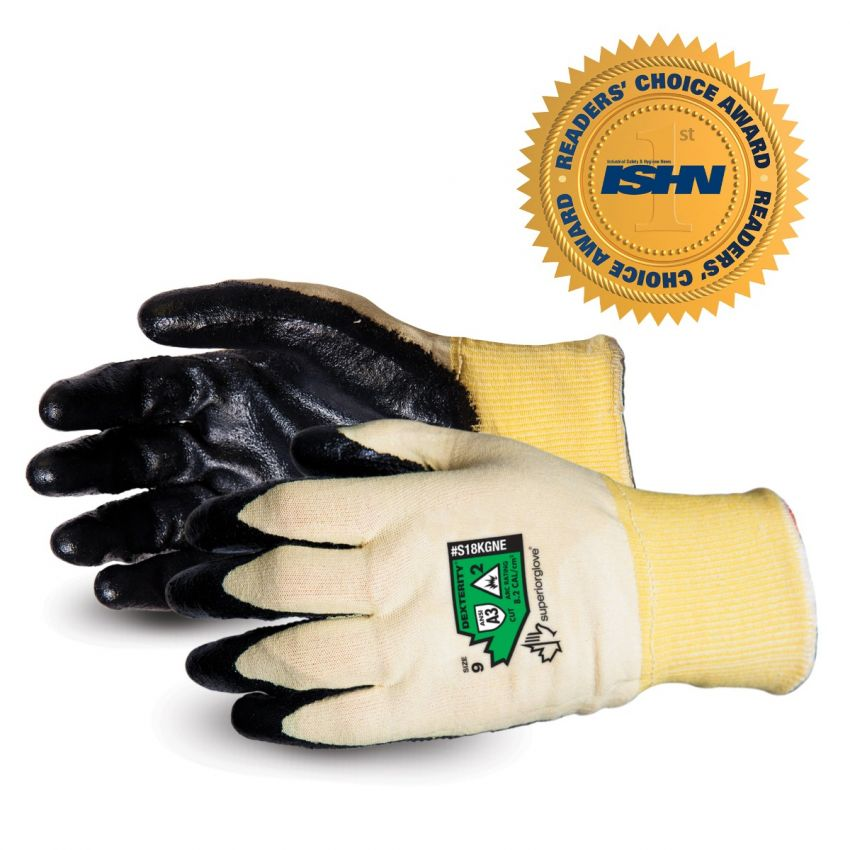S18KGNE Dexterity® 18-Gauge Arc Flash-Rated Neoprene Palm Coated Gloves by Superior Glove