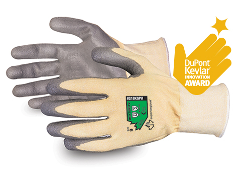 #S18KGPU Superior Glove® Dexterity® Kevlar® Blend PU Coated Gloves