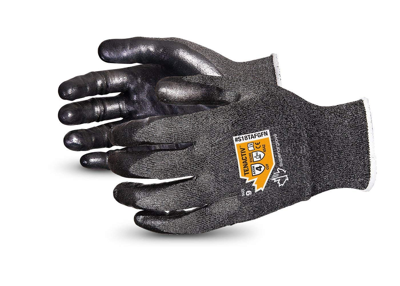#S18TAFGFN AWARD WINNER. Superior Glove® TenActiv™ Composite Cut-Resistant Foam Nitrile Coated Work Gloves