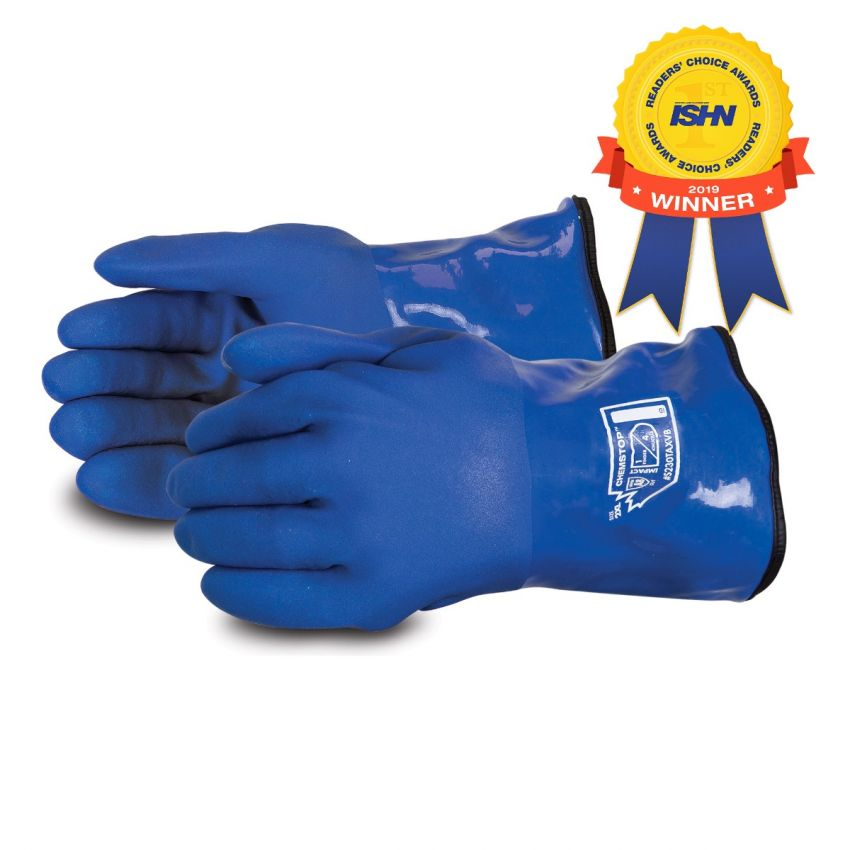#S230TAXVB Superior Glove® Chemstop™ Premium 12` Blue Cut-Resistant Anti-Impact PVC-Coated Gloves