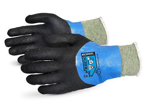 #SCXPNTFC Superior Glove® Emerald CX® Liquid Proof Kevlar® Wire-Core™ Cut Resistant Work Gloves with Full Micropore Nitrile Coating