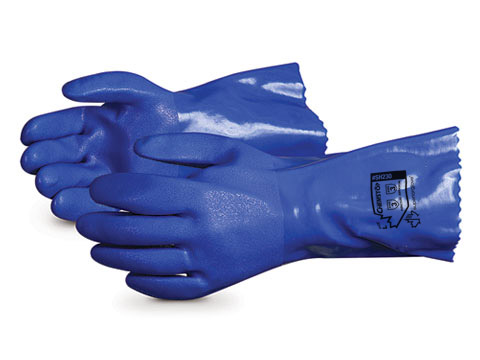 SH230 Superior Glove® Chemstop™ Heavier-Weight PVC Chemical Resistant Work Gloves
