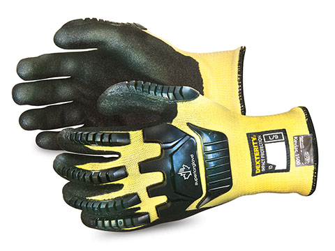 #SKGPNVB - Superior Glove® Dexterity® Anti-Impact Cut-Resistant Kevlar® Blend made with Micropore Nitrile Grip