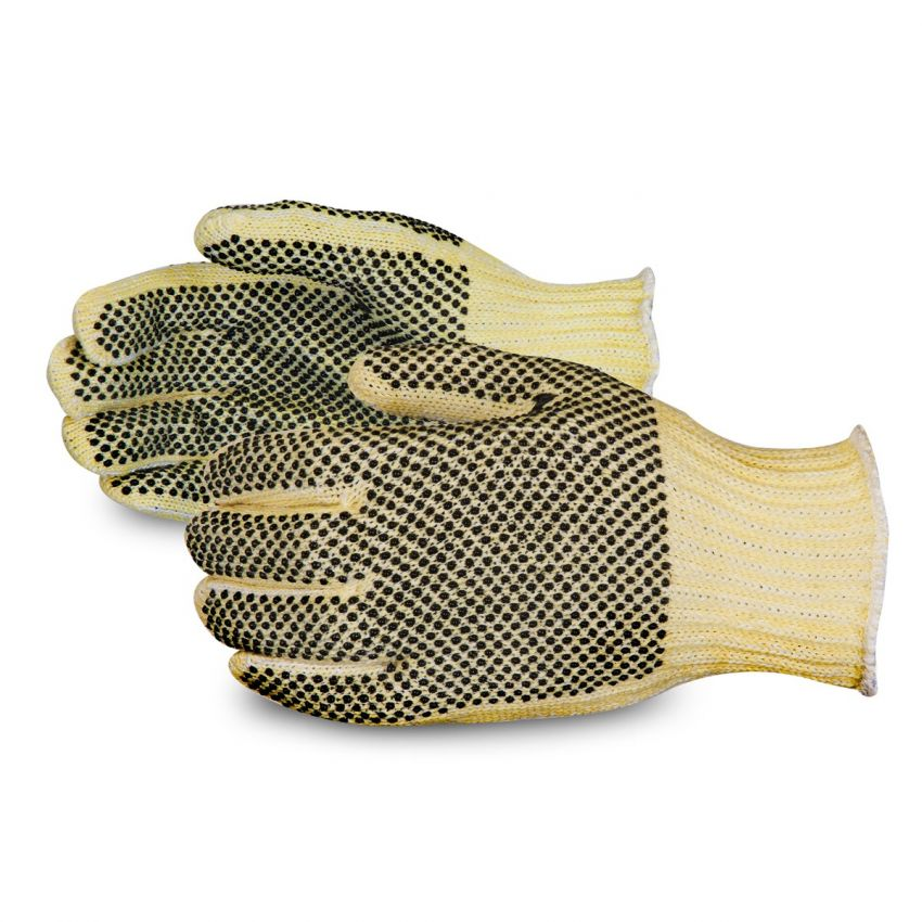SPGRK2D - Superior®  Contender™ 7-gauge Composite Knit Cut Resistant Work Gloves with Dual Sided PVC Dotted Palms