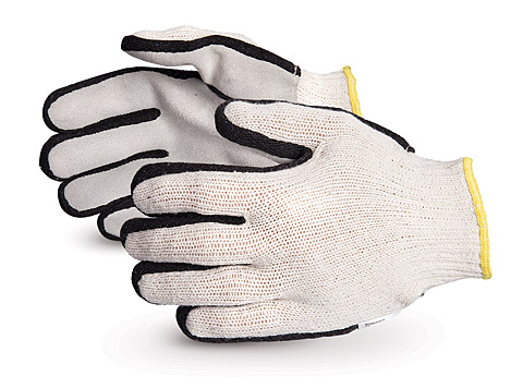 #SQSW - Superior Glove® Endura® Deluxe Leatherface String-Knit Gloves w/ Sidewall™