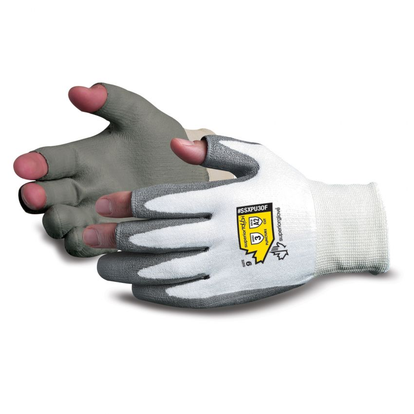 Superior Touch® Open-Finger PU Coated Dyneema® Gloves