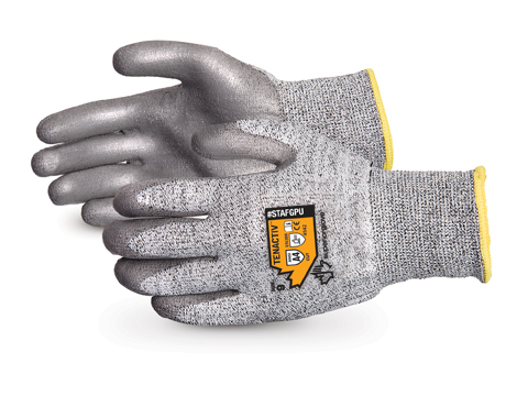 #STAFGPU - Superior Glove® TenActiv™ Composite PU Coated Cut-Resistant Work Gloves