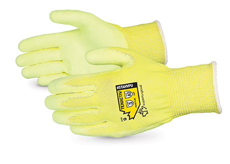 #STAHVPU - Superior Glove® TenActiv™ Hi-Viz 13-gauge Composite Fiber Nitrile Coated Cut-Resistant Work Gloves