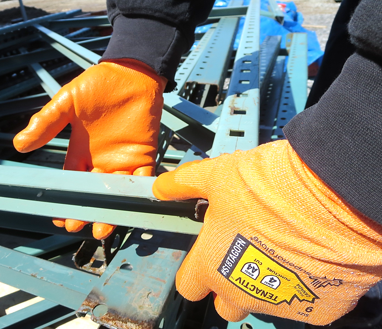 #S18TAGOFN Superior Glove® TenActiv™ Hi-Viz Foam Nitrile Coated Gloves