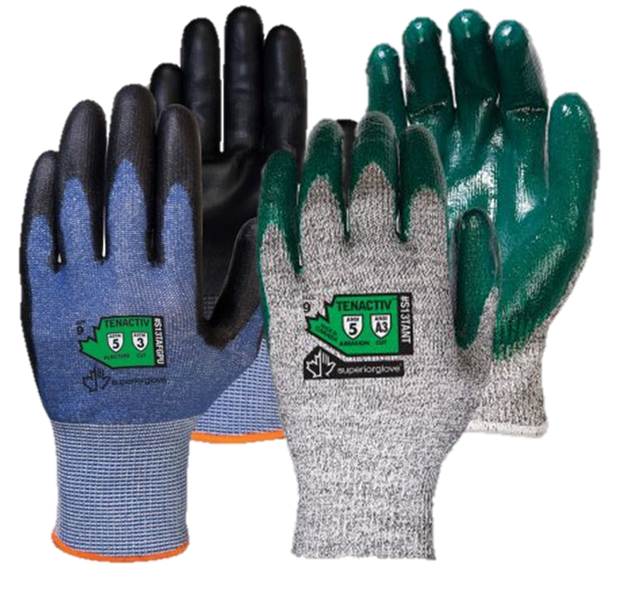 ANSI Rated Abrasion-Resistant Industrial Work Safety Gloves