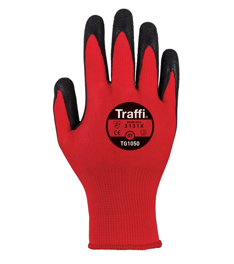 TG1050 TraffiGlove® Work Gloves with X-Dura Rubber Coated Palms