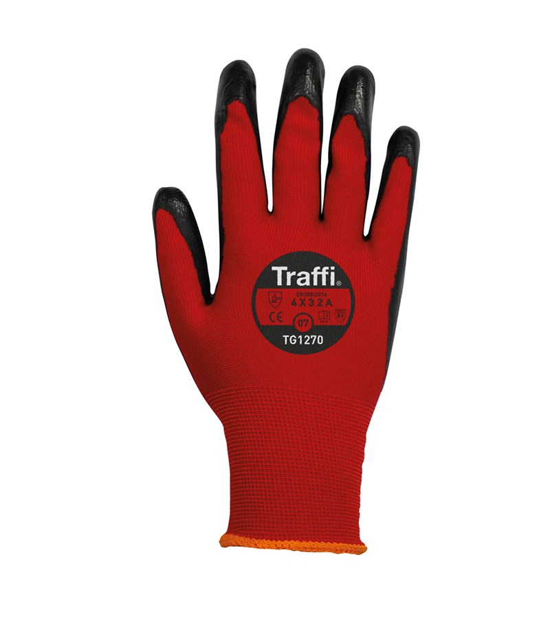 TG1270 TraffiGlove® 15-gauge seamless knit gloves with nitrile coating