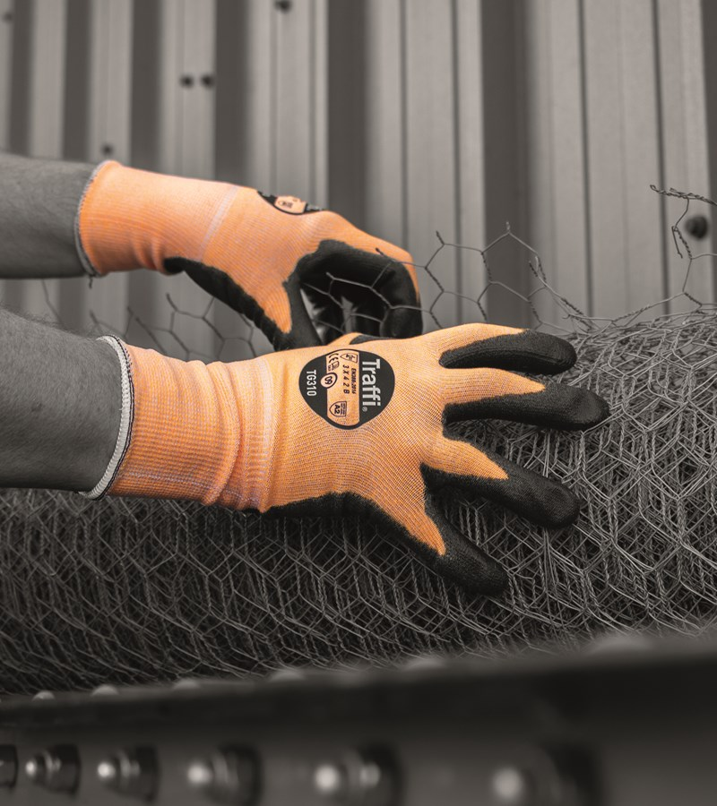 TG310 TraffiGlove® A2 Cut Safety Amber Colored Gloves