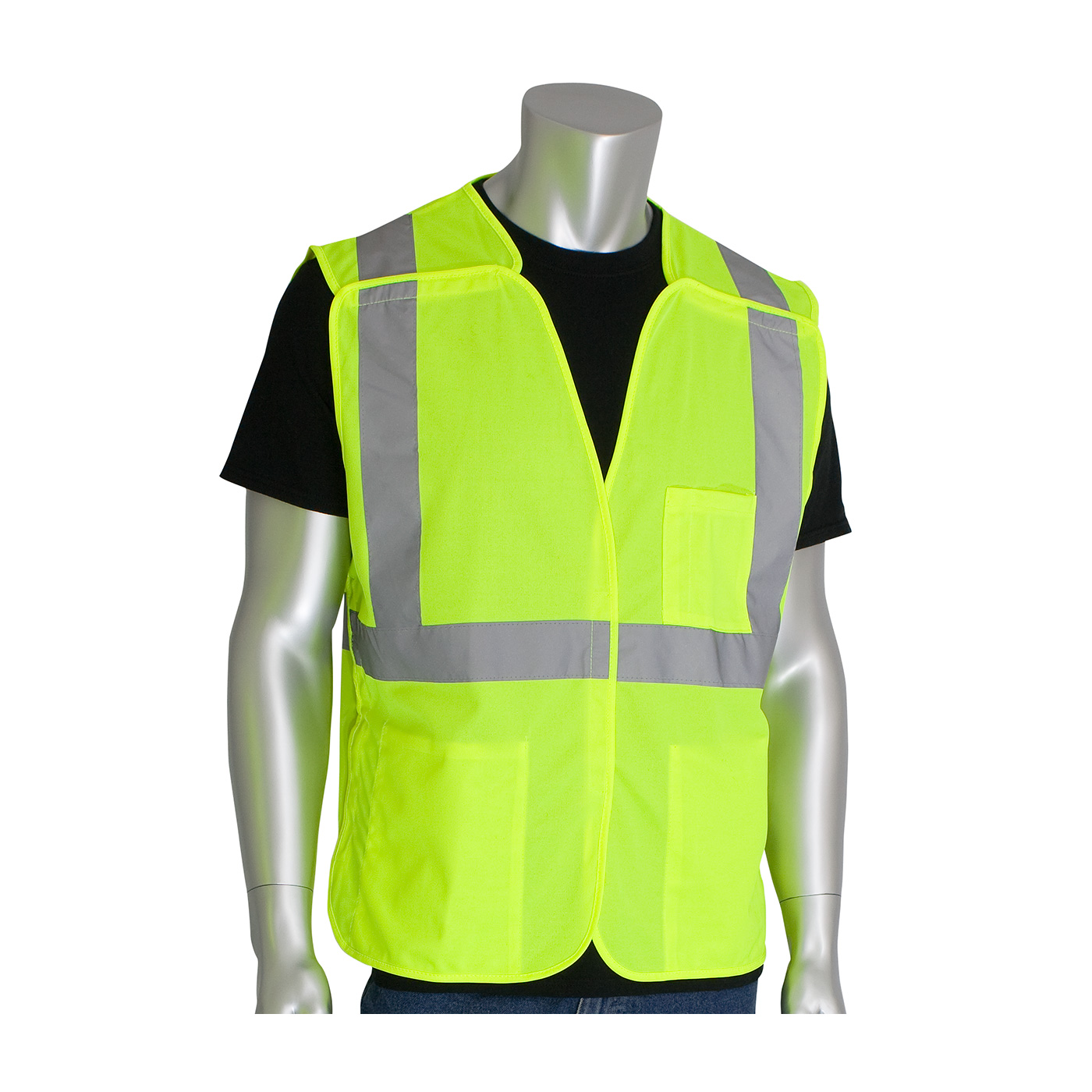PIP® ANSI Type R Class 2 Three Pocket Mesh Breakaway Vest #302-5PMV