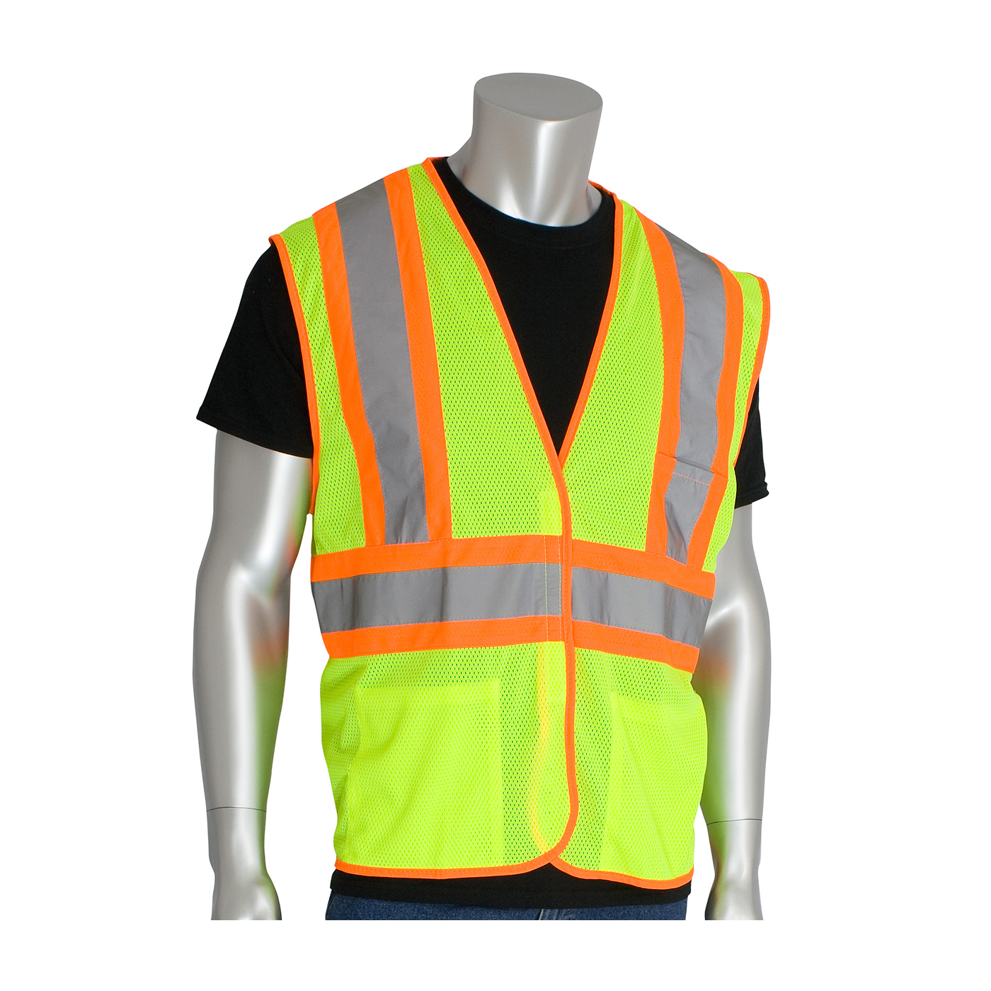 PIP® ANSI Type R Class 2 Two-Tone Three Pocket Mesh Vest #302-MVAT