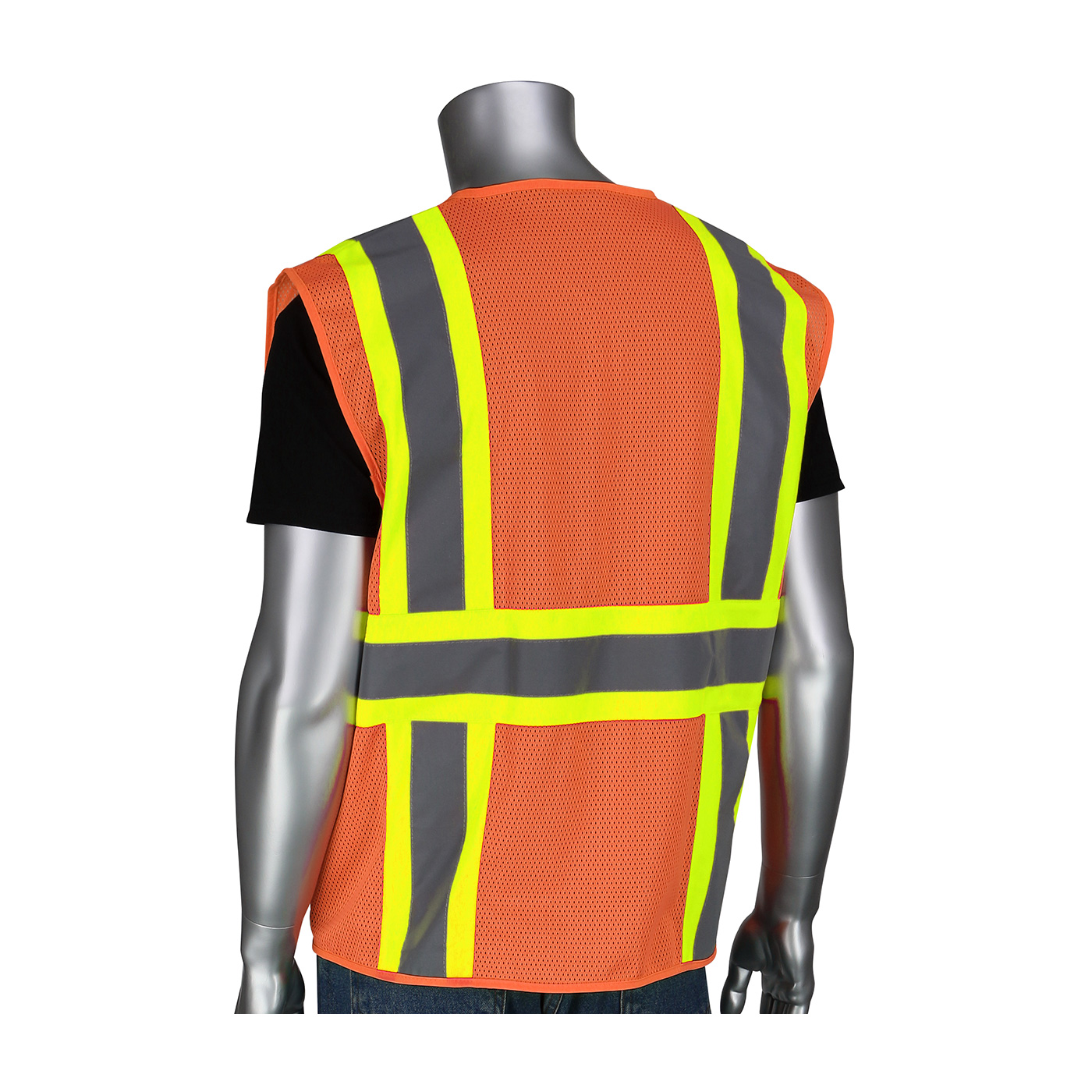 PIP® ANSI Type R Class 2 Two-Tone Six Pocket Mesh Vest #302-MVZT