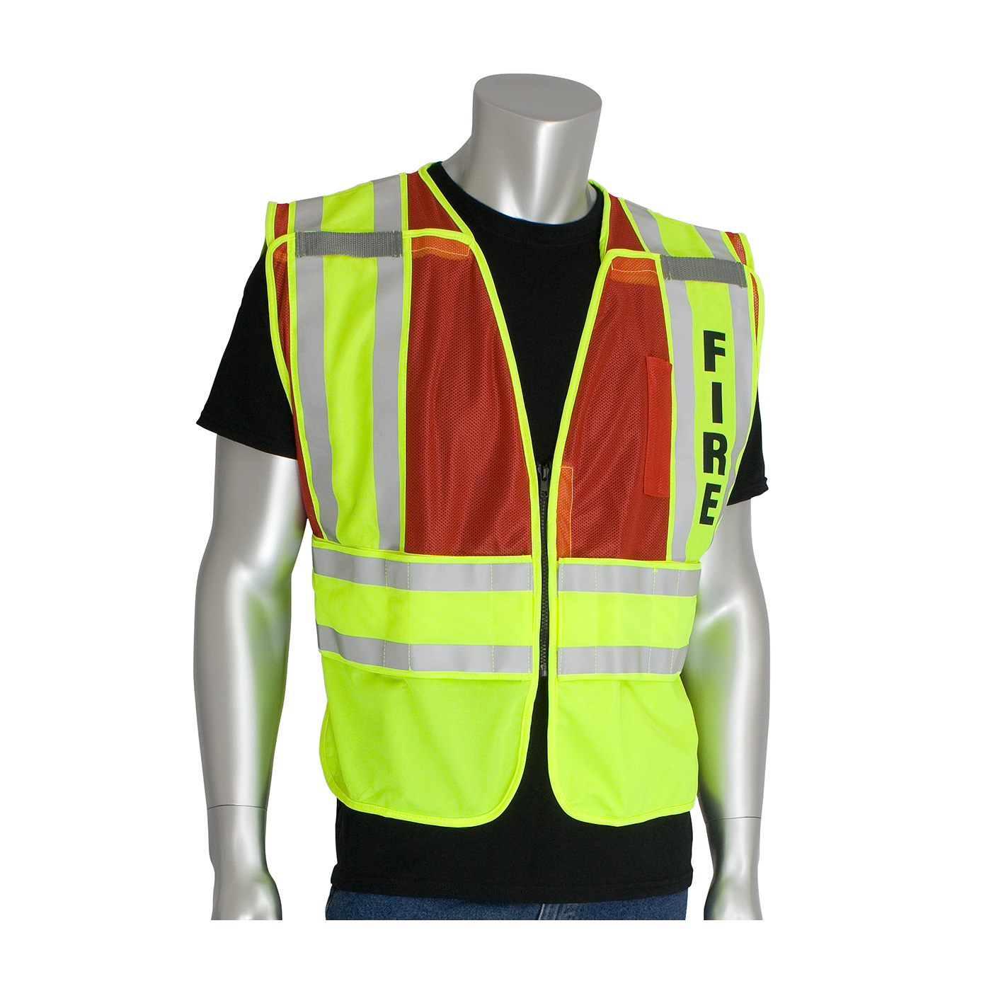 PIP® ANSI Type P Class 2 Public Safety Vest with FIRE Logo #302-PSV-RED