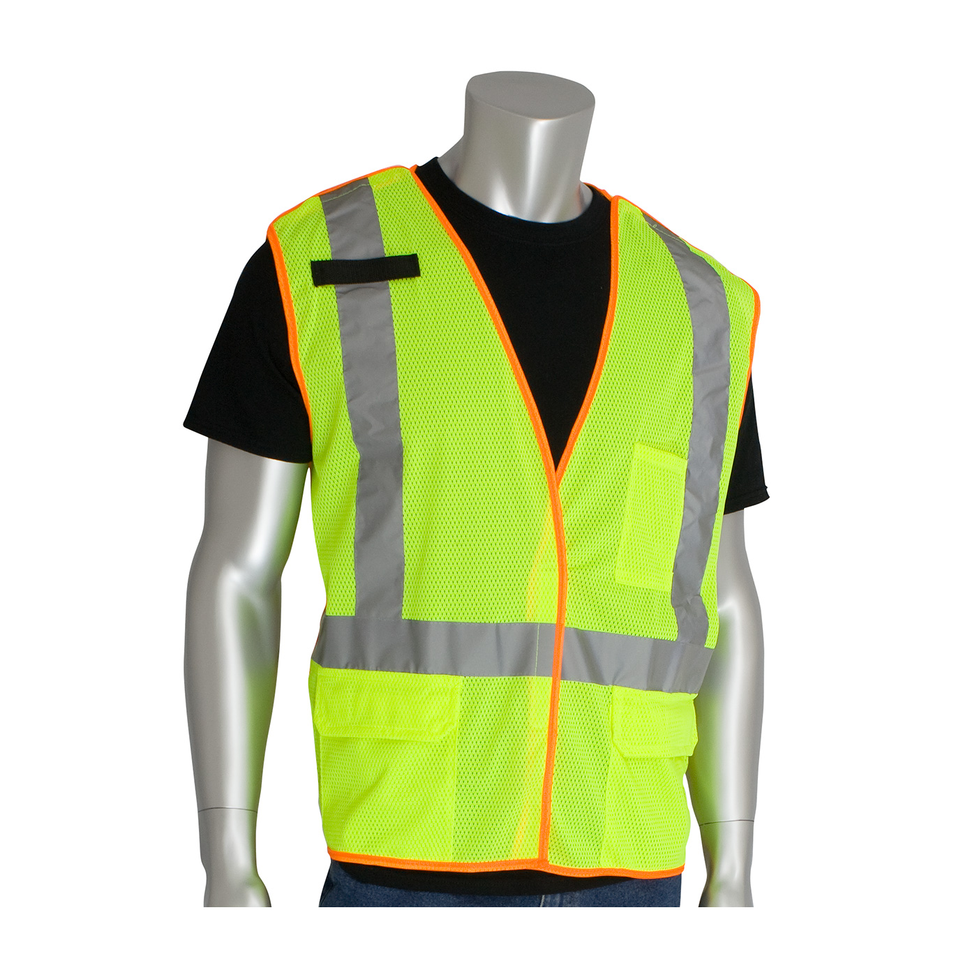 PIP® ANSI Type R Class 2 and CAN/CSA Z96 X-Back Breakaway Mesh Vest #302-0210-LY