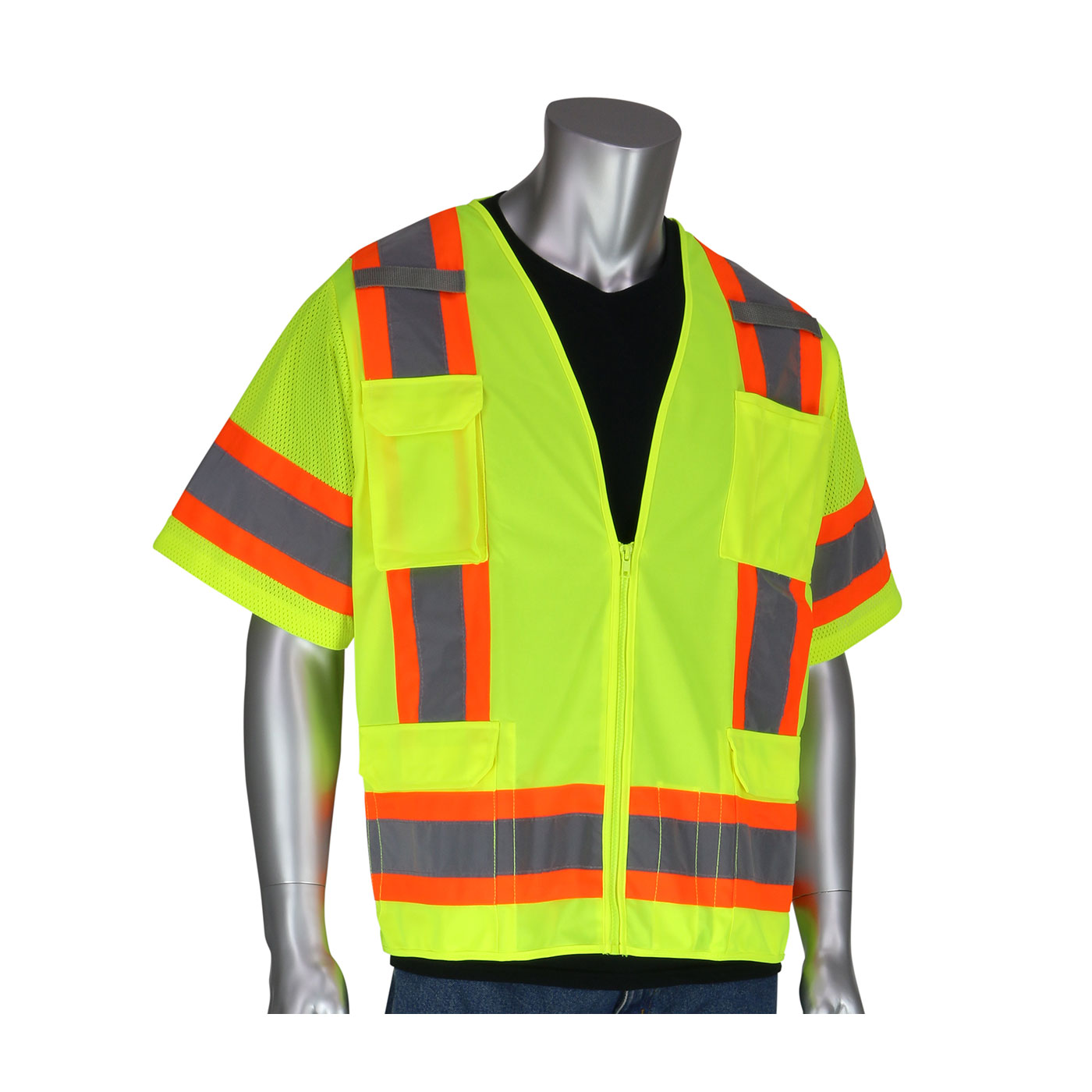 PIP® ANSI Type R Class 3 Two-Tone Surveyor Eleven Pocket Vest #303-0500