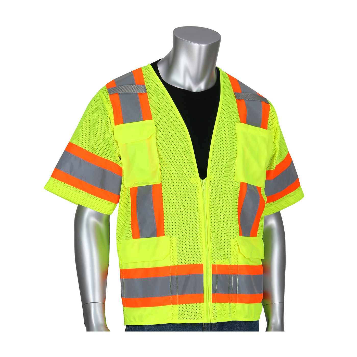 PIP® ANSI Type R Class 3 Two-Tone Surveyor Eleven Pocket Vest #303-0500M
