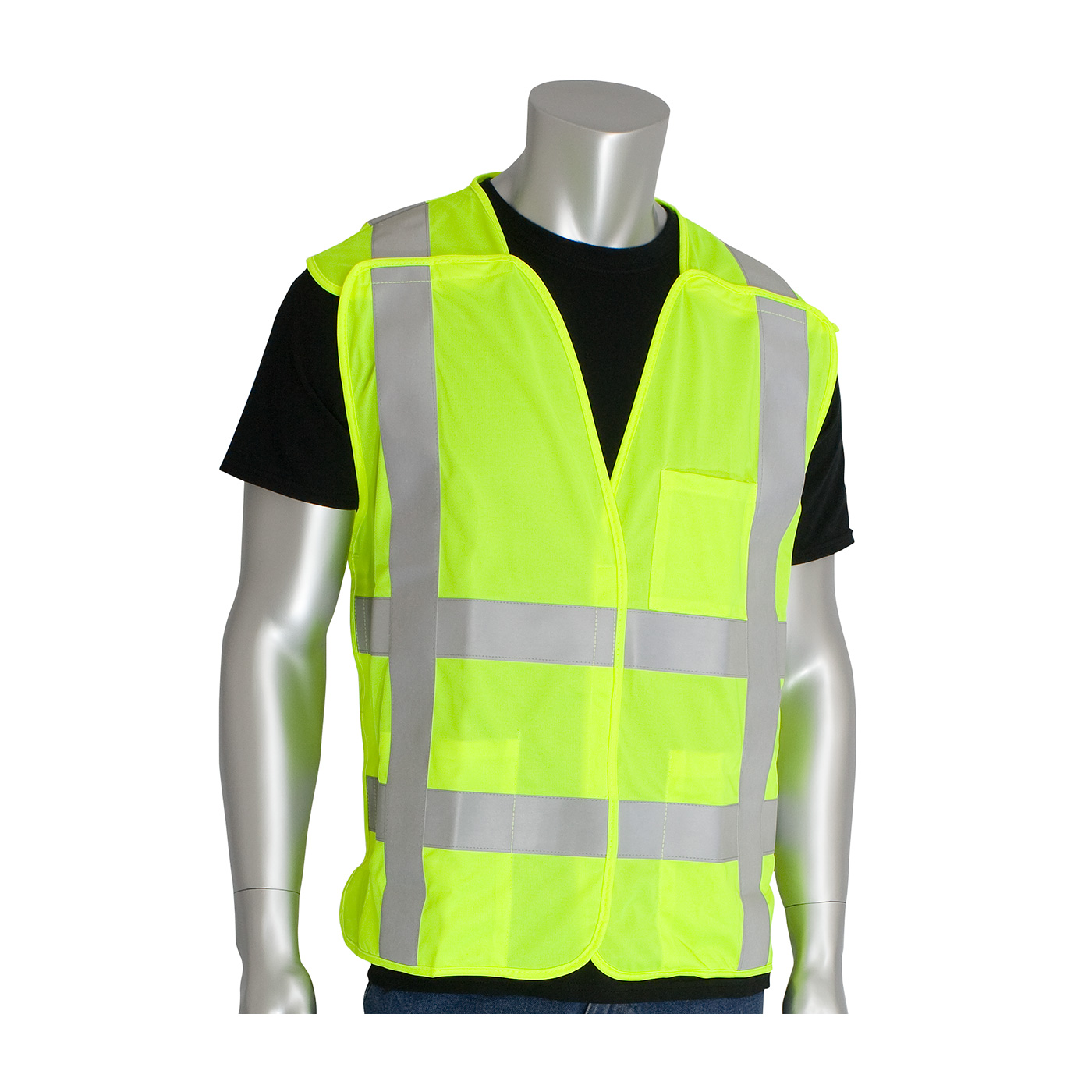 PIP® ANSI Type R Class 2 FR Treated Solid Breakaway Vest #305-5PVFR